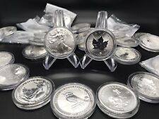 MUST READ NOTES! Lot of 7 - 2020 1 oz BU Fine Silver Coins From Around The World
