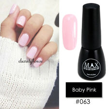 MAX 7ml Nail Art Color UV LED Lamp Soak Off Gel Polish #063-Baby Pink