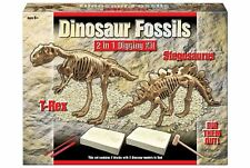 Deluxe 2 in 1 Dig Out Dinosaur Skeleton Fossil Archaeology Excavation Kit