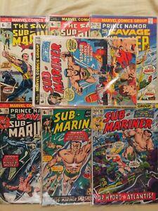 ESPECTACULAR LOTE DE 7 CÓMICS VINTAGE SUB-MARINER (1968 1st SERIES).