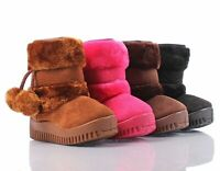 Cute Two Layer Style Faux Fur Booties Toddlers Kids Girls Winter Boots Shoes