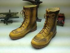 YELLOW DISTRESSED WILSON PIONEER LACE UP INSULATED WORK RAIN BOOTS 11W