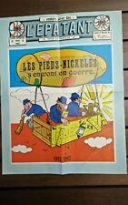 Affichette publicitaire présentation les pieds nickeles s'en vont en guerre ww1