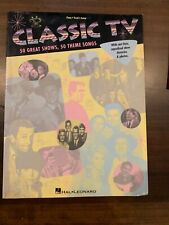 Classic TV 50 Great Shows, 50 Great Theme Songs Piano, Vocal, Guitar Hal Leonard