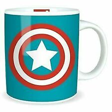 OFFICIAL MARVEL COMICS CAPTAIN AMERICA SHIELD COFFEE MUG TEA CUP NEW IN GIFT BOX