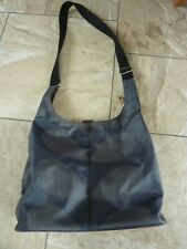 Orla Kiely Laminated Midi Sling Bag Cross-body Grey/Navy Used