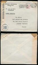 BELGIAN CONGO COMPAGNIE COTONNIERE PRINTED ENVELOPE WW2 1945 CENSOR 316