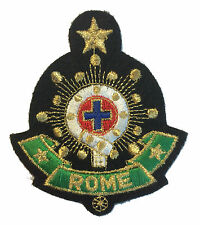 Rome Vatican Crest Badge IRON ON or SEW ON APPLIQUE Patch Souvenir