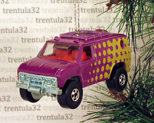 70's FORD ECONOLINE VAN 1970's PURPLE YELLOW RED CHRISTMAS TREE ORNAMENT XMAS