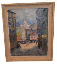 Ölbild, Sacre Coeur,Paris,1905,sign.Lecomte,mit Original-Rahmen