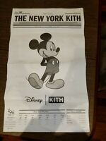 Kith x Disney Mickey Mouse Newspaper New York Promo Collectible Not Supreme