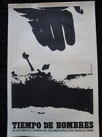 TIEMPO DE HOMBRES AZCUY 1970 ORIGINAI CUBAN ICAIC Movie Poster Art Silkscreen