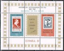 Turkije Türkiye 1981 blok 20 Balkanfila 81 Postfris MNH  cat waarde € 4