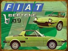 Plaque metal vintage Fiat X 1/9