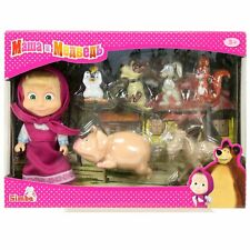 Doll Masha and the Bear with animal friends. Game set. 12cm. Simba