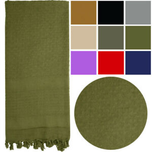 Solid Shemagh Heavyweight Arab Tactical Desert Keffiyeh Scarf