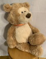 "RARE Collectable Gund Bear 26"" Two-Toned Tan / Cream Teddy Plush Unique"