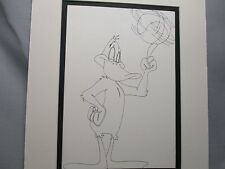 Daffy Duck  Playing Basketball    Looney Tunes   1960,s Line Drawing