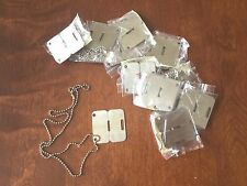 DOG TAG CANADIAN MILITARY ARMY CHAIN NECKLACE (LOT OF 10)
