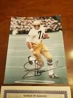 JOE THEISMANN SIGNED 8X10 PHOTO - NOTRE DAME FIGHTING IRISH COA