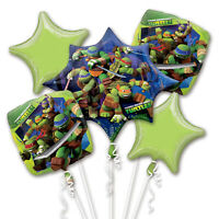 Teenage Mutant Ninja Turtles Helium Party Balloons - 5 Balloons Happy Birthday