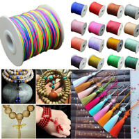 135Yard 0.8mm Nylon Cord Thread Chinese Knot Macrame Rattail Bracelet String