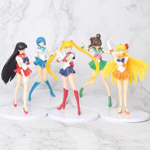 Sailor Moon Tsukino Usagi Anime 5PCS Action Figure Collection Kids Toy Doll Gift