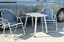 VW t5 t6 bus California Camper Beach plegable mesa de camping mesa y 2 sillas plegables