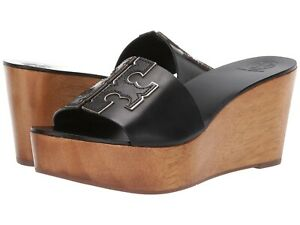 Tory Burch 80 mm Ines Wedge Slide Sandals Dress Platform Womens Casual Shoes