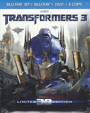 Blu-ray 3D + Blu-ray 2D + Dvd **TRANSFORMERS 3** nuovo slipcase 2011