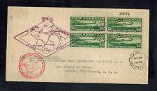 1930 USA Graf Zeppelin Cover Around the World to Arcata # C13 Block 4