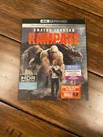 RAMPAGE * 4K UHD + BLU-RAY + Slipcover * With hype stickers ,