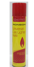Ronson Firebronze Standard Lighter Flints - Pack of 9 flints and Ronson Gass