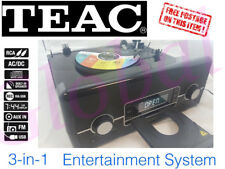 Teac 3 in 1 Hi-Fi System CD USB Turntable Radio Stereo - Record Via USB LPU192CD
