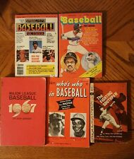 VINTAGE BASEBALL Paperback Books (5) Very Good