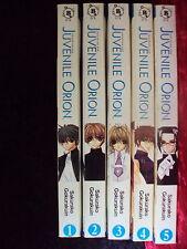 JUVENILE ORION VOLUMES 1-5 BROCCOLI BOOKS MANGA COMPLETE SET