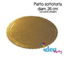 PIATTO SOTTOTORTA in cartone dorato diam. 26 cm attrezzatura vassoio torta
