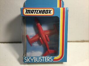Vintage Matchbox Skybusters SB-1 Lear Jet Plane Datapost Near Mint In Box