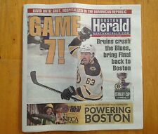 Boston Herald Boston Bruins Newspaper Stanley Cup Game 7 Finals Champions !