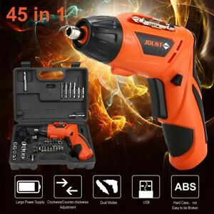 45in1 Cordless Electric Screwdriver Rechargeable Drill Power Tool Bit USB charge