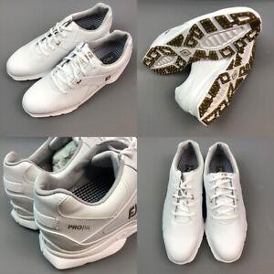 FootJoyPro SL Limited Edition Golf Shoes White/Gold Size UK 8 (L) 9 (R) Medium