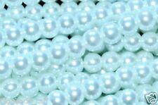 6mm 100pcs 8mm 50pcs 10mm 25pcs round glass pearl loose beads