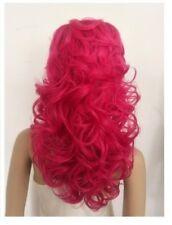 Nueva COLMENA Rizos Negro, rosa caliente, Naranja Peluca para mujer de cobre arrastre?