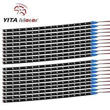 YITAMOTOR 20x Blue 30CM Strip Light 2835 SMD 15LED Flexible Car Boat Decor Lamps