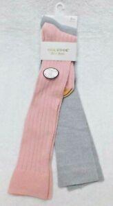 F285 Gold Toe Pink & Gray Women's  Ultra Soft Knee Hight Socks  - 6-9