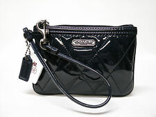 NWT COACH POPPY PATENT LEATHER GLOSS WRISTLET 46576 COBALT BLUE