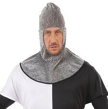 Medieval Knight Warrior Metallic Hood St George Adult Fancy Dress Accessory