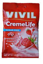 Vivil SUGAR FREE creme vita STRAWBERRY Creme 60g
