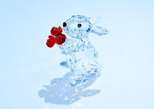 Swarovski Crystal Rabbit with Red Roses Flower Easter 5063338 Brand New in Box