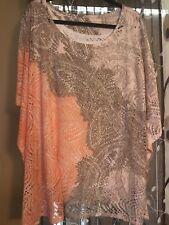 Reba Women's Shirt Top Plus Suze 2X Multy Color NWOT
